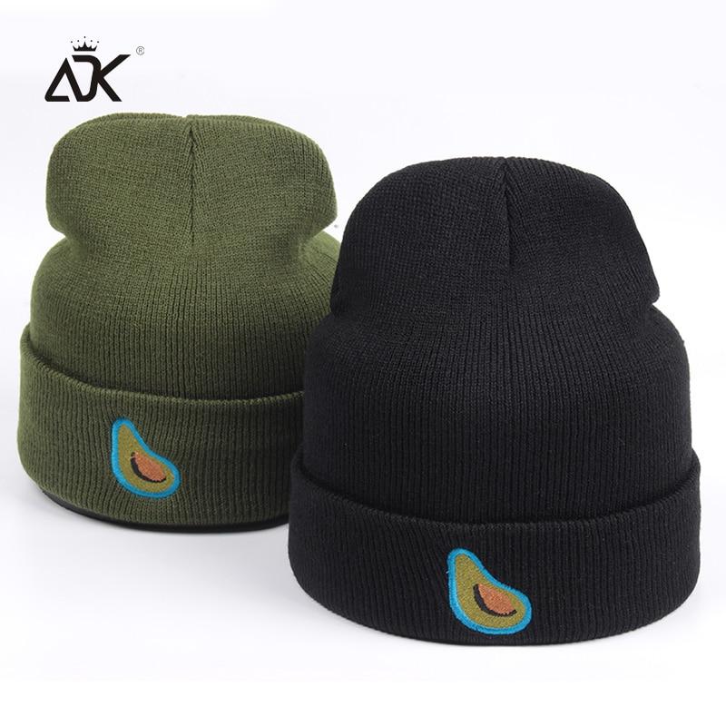Lovely Embroidery Fruit Knitted Hat Cute Ski Hat For Girl Boys Cotton  Blends Soft Skullies Beanies Outdoor Warm Gorro Feminino 5df195bb424