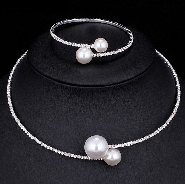 Fashion Simulated Pearl Bridal Jewelry sets For Women 24