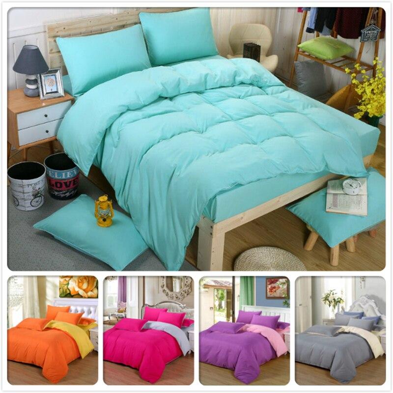 3pcs 4pcs Bedding Set 1.5m 1.8m 2.0m 2.2m Bed Sheet King Queen Twin Double Single Size Duvet Cover Pillowcase Bed Linen Bedlinen