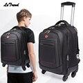 Letrend Rotolamento Bagagli Spinner Zaino Shoulder Bag di Viaggio Ad Alta Capacità Valigia Ruote Multifunzione Trolley Carry Sul Tronco