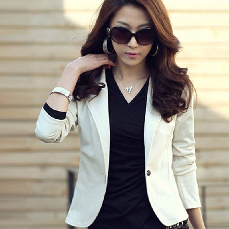 New Arrival Casual Women OL Jacket Coat Lapel One Button Long Sleeve Short Casual Suit Blazer Outwear fb LB