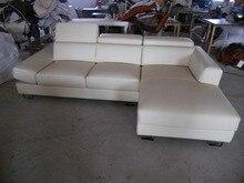 Modern últimas novela home beige esquina elefante vaca sofá de cuero muebles de sala sofá #8271