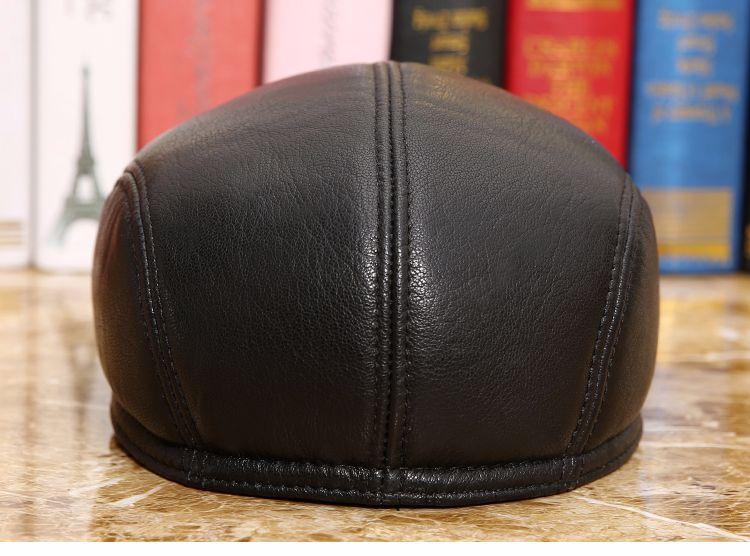 men natural Sheepskin beret (8)