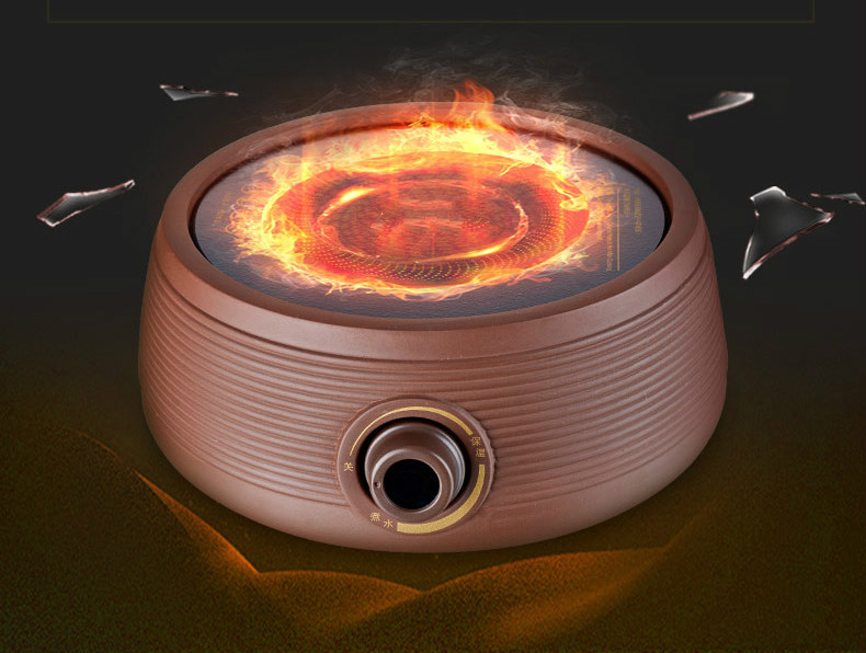 Hot Plates Thousand ring purple sand electric ceramic furnace glass pot is made of gold stove NEW hot plates thousand ring purple sand electric ceramic furnace glass pot is made of gold stove