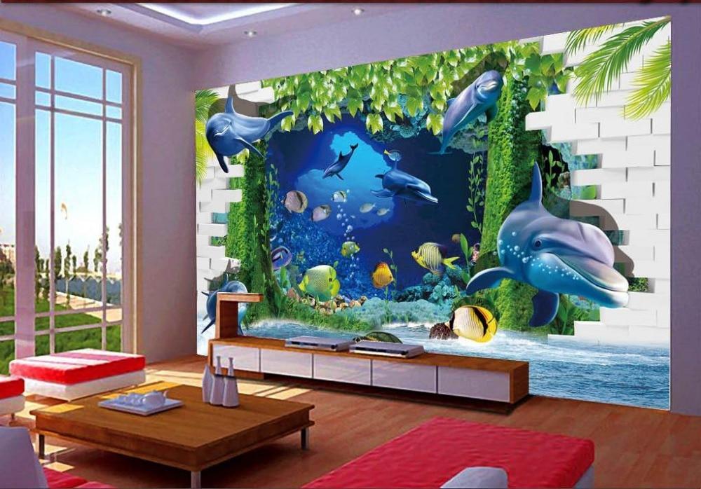 Wall Mural Photo Wallpaper Underwater World Dolphin