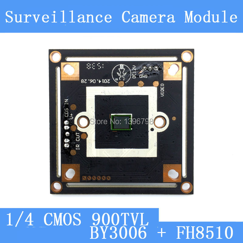 HD Color CMOS 900TVL camera module surveillance cameras BY3006 + FH8510 PCB Board PAL / NTSC Optional