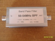 50-54MHz band pass filter BPF 6 meter wave filter to improve anti-interference capability kh 003 visible and infrared interference filter thickness 6 max center wavelength 532 0