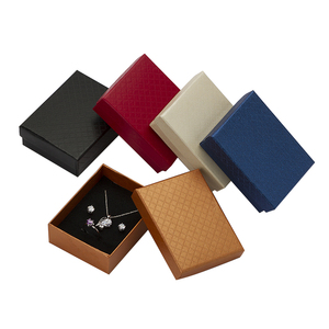 Image 5 - 24pcs Jewelry Box 7*9*3cm Jewelry Sets Display Box Multi Colors Ring Box Necklace Packaging Earrings Gift Box Black Sponge