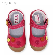 TTJ  New Genuine Leather Baby shoes Leopard print Girls Soft Horse hair Boys First walkers Lace moccasins