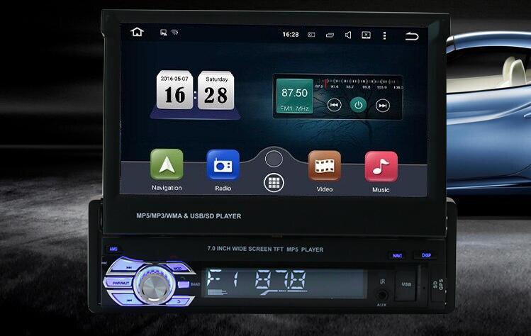 Neue GPS Autoradio bluetooth MP3 FM/USB/1 Din/fernbedienung/usb ...