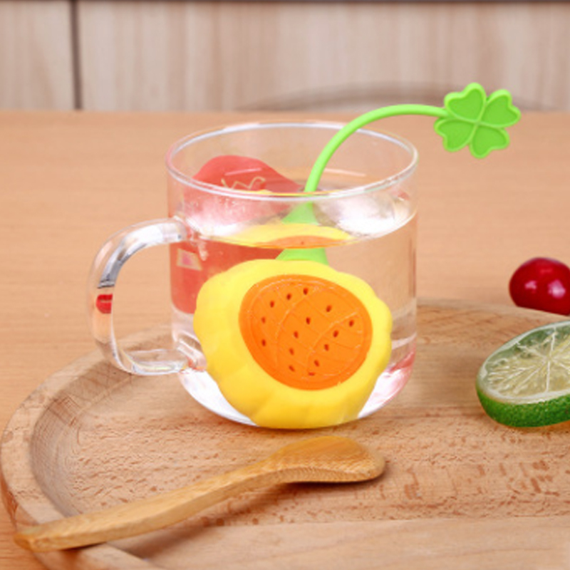 Fruit Watermelon Pitaya Shape Silicone Tea Strainer Herbal Spice Infuser Filter Diffuser Kitchen Tools Filter Tea Making Device