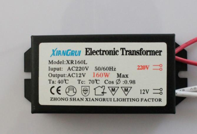 1pc The New 160W Electronic Transformer 220V - 12V LED Halogen Light Bulb Lamp Power Driver Supply good performance
