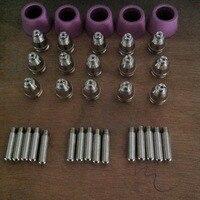 35PCS AG60 SG55 Consumables SG 55 AG 60 Cutting Torch Parts For Plasma Cutter SG 55
