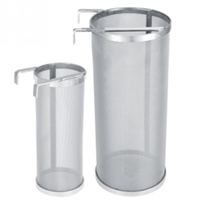 2Pcs Stainless Steel Homemade Brew Beer Hop Mesh Filter Strainer With Hook Beer Brewing Strainer Home Brew Diy Brewing High Pr