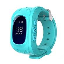 Q50 Crianças GPS Faixa de Pulso Inteligente Relógio Inteligente Chamada SOS Location Finder Localizador Rastreador Monitor Do Bebê Anti Perdido para Os Meninos meninas