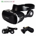 VR Shinecon 4.0 Virtual Reality 3D Glasses Headset VR BOX +Headphone/Microphone/Foldable Belt for 3.5-5.5' Mobile phone + Remote