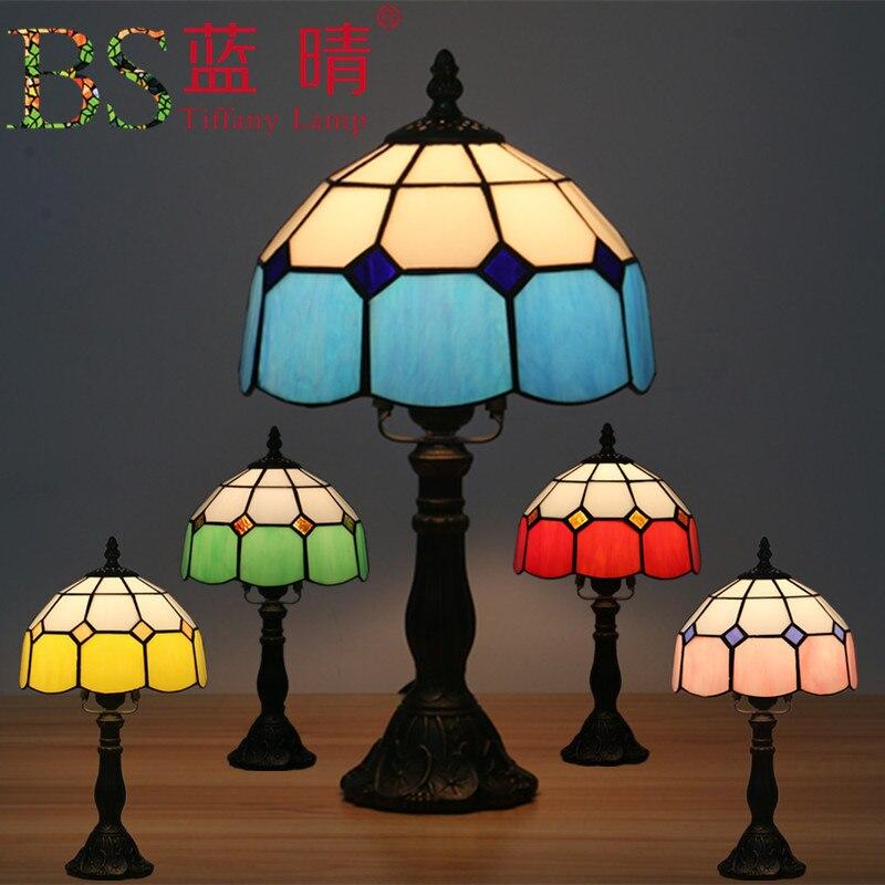 Turco Mosaico Lampade da tavolo E27 Handmade di Base di Vetro colorato Lampsahde Da Comodino Camera Da Letto Dell'annata Lampada Da Tavolo Light Fixtures