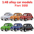 1:48 alloy car models,high simulation FIAT 500, metal diecasts, toy vehicles, pocket mini toy,pull back, free shipping