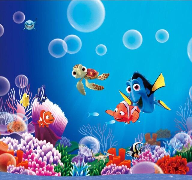 Ft finding dory nemo under blue sea bubbles corals