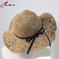 Hand-Made Straw Summer Hats For Women Bowknot Straw Hat Sun Hat chapeau paille Casual Beach Cap Sombreros Mujer Verano