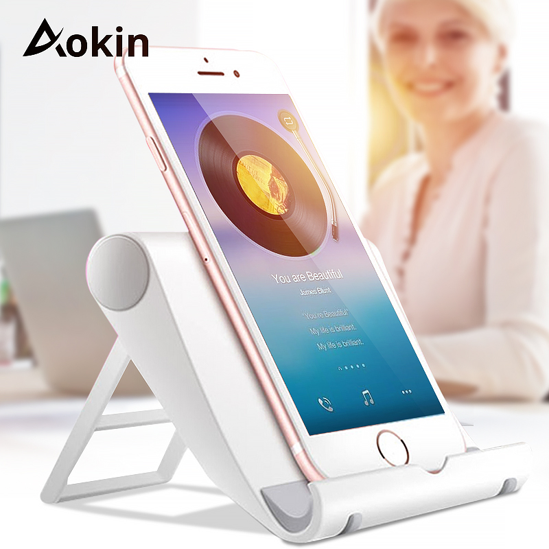 Aokin Tablet Stand Universal Mobile Phone Stand Flexible Desk Phone Holder For iPad iPhone 7 6s Sony Samsung S6 S8 HTC Holders