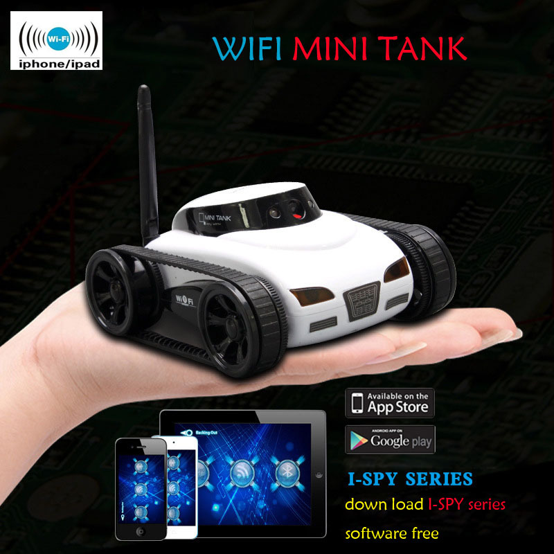 30M APP Remote Control WiFi Mini  i-Spy Real-time Transmission Tank Move Motion Video Camera for Christmas Holiday Gift