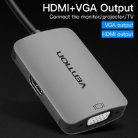 VENITON USB C HUB To HDMI VGA Output Adapter USB Type C To VGA HDMI Female