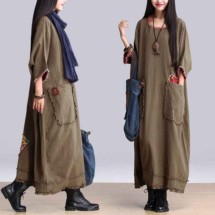 31b20a1b59 Mori Girl Ethnic Bohemian Hippie Boho Dress Harajuku Robe Longue Tunique Women  Loose Plus Size Casual