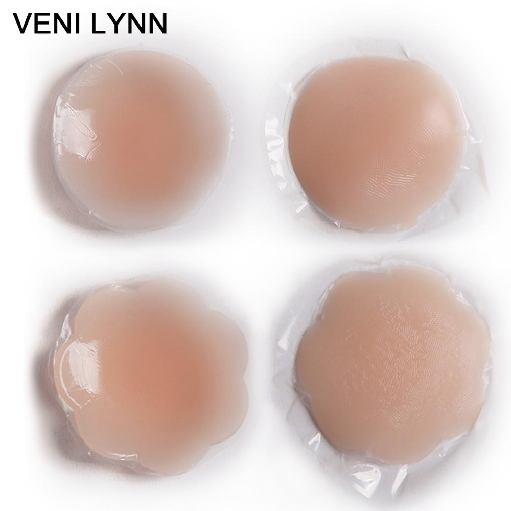 Buy VENI LYNN Women Reusable Breast Stickers Invisible Silicone Chest Pad Petal Mat Accessories  Nipple Cover Self Adhesive Pasties