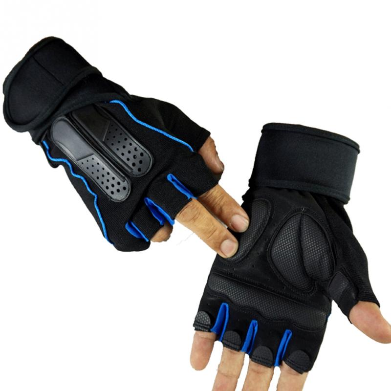 Breathable MTB Motor Bike Cycling Gym Fitness Gloves Men Women Training Weight Lifting Dumbbell Sports Half Finger Gloves