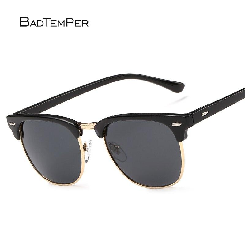 3259e77d24 Badtemper Female Sunglasses Black Women Polarized Retro Shade Metal Eyewear  2018 Woman Men Driving Sunglasses Uv400