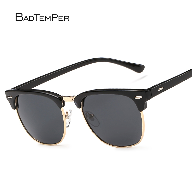 Badtemper Feminino óculos de Sol Mulheres Polarizada Retro Sombra Óculos de Metal Preto 2018 Mulher Homens Condução Óculos de Sol Uv400 Óculos Ao Ar Livre