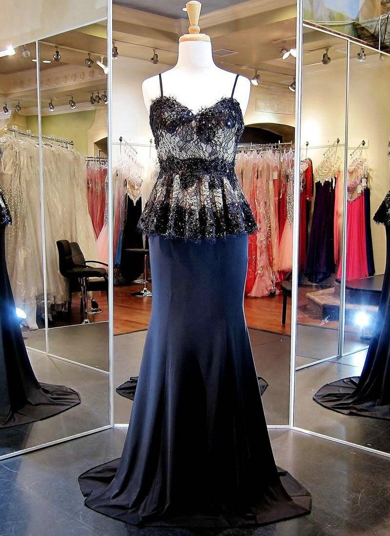 Black Nude Long Dresses Evening Vintage Old Hollywood -2953