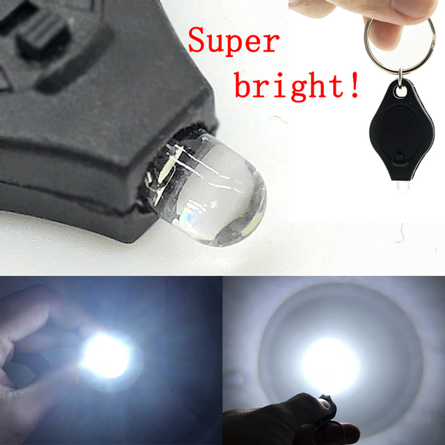 2pcs Mini Pocket Keychain Flashlight Micro LED Squeeze Light Outdoor Camping Ultra Bright Emergency Key Ring Light Torch Lamp
