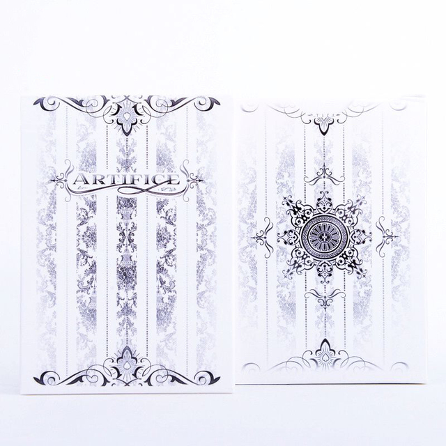 1deck Artifice Tundra Playing Cards Ellusionist White Trick Cards Magic Tricks Magic Toys Magic Props 81230