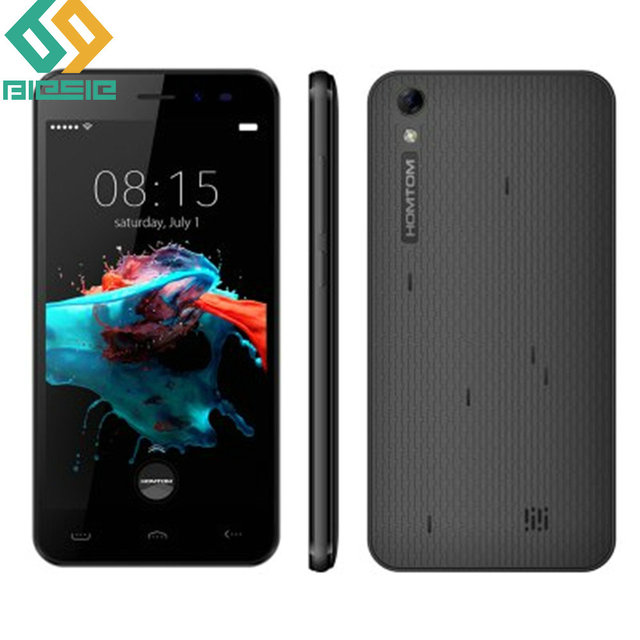 """HOMTOM HT16 5.0"""" HD 720P Smartphone Android 6.0 Quad Core MTK6580 Cellphone 1GB+8GB ROM 5MP 8MP 3000mAh 3G Mobile Phone"""