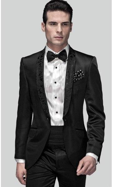 Marié Revers Châle D'honneur Beige Smokings multi Pantalon Noir Un Beau Hommes Costumes Mariage Costume veste Garçons Cravate Smoking Ceinture Bouton De Veste 2017 xwFXnxY8q1