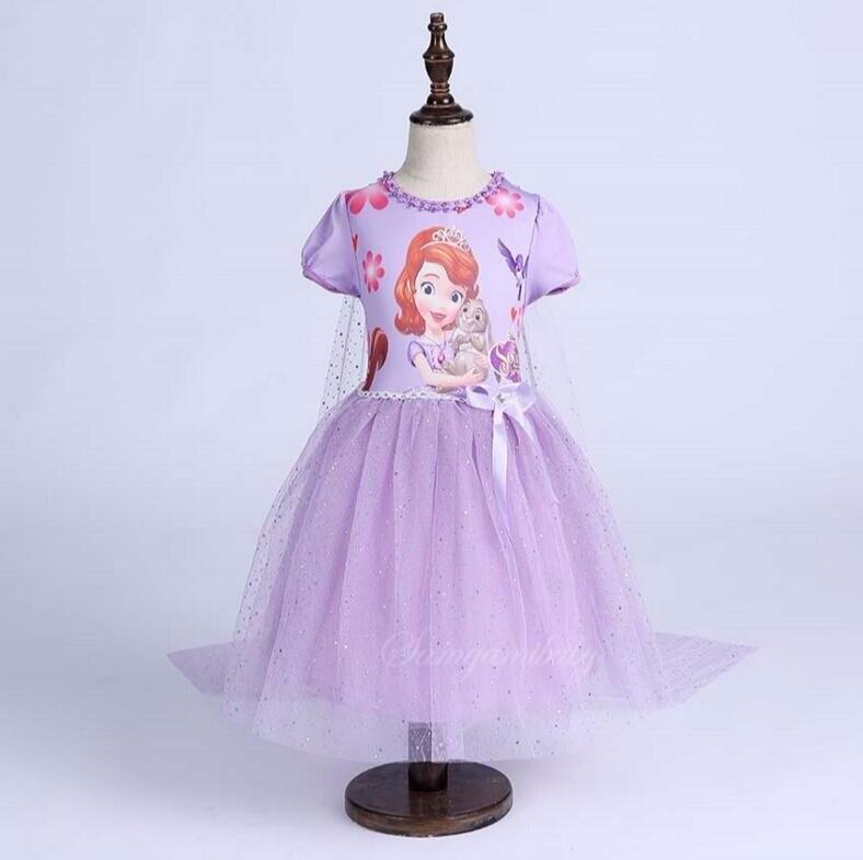 Robe Sofia pour filles   Tenue princesse d'été, des Gresses, pour enfants