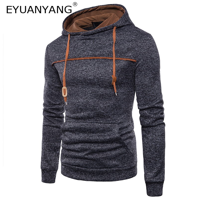 EYUANYANG Hoodies Men Hip Hop Streetwear Male Solid Color Sweatshirt 2018 Autumn Winter New Brand Mens Hoodie Pullover Moletom