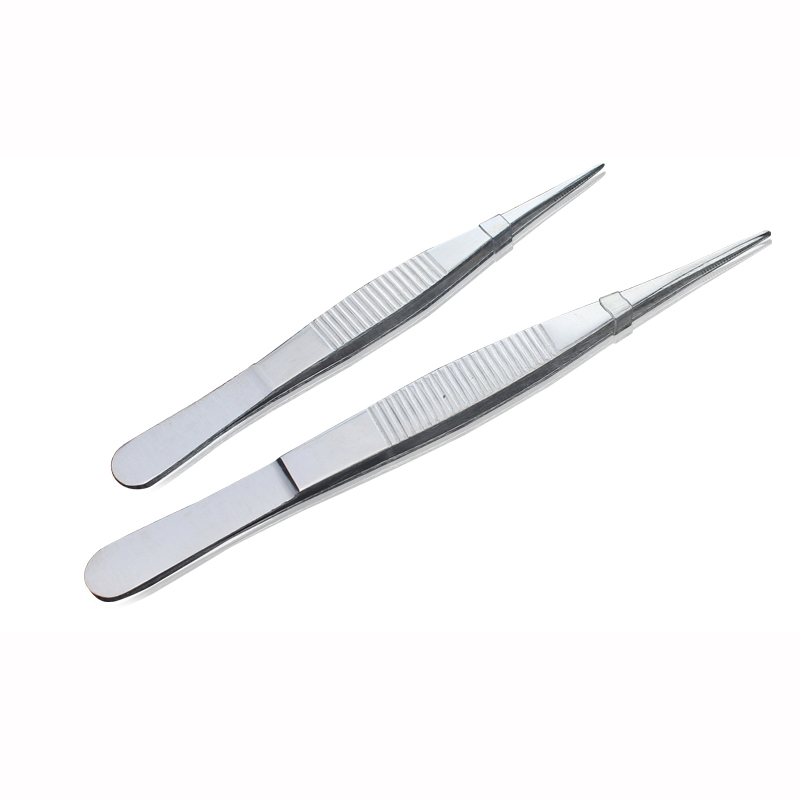 Stainless Steel Straight/Elbow 12-20cm Medical Tweezer Precision Surgercy Tweezers First Aid Kit Accessories Outdoor Survial Too