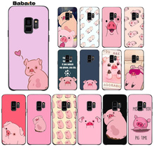 Babaite Cartoon Anime Gravity Falls pig Ultra Thin Pattern Phone Case For GALAXY s7 edge s8 plus s9 s5 s6