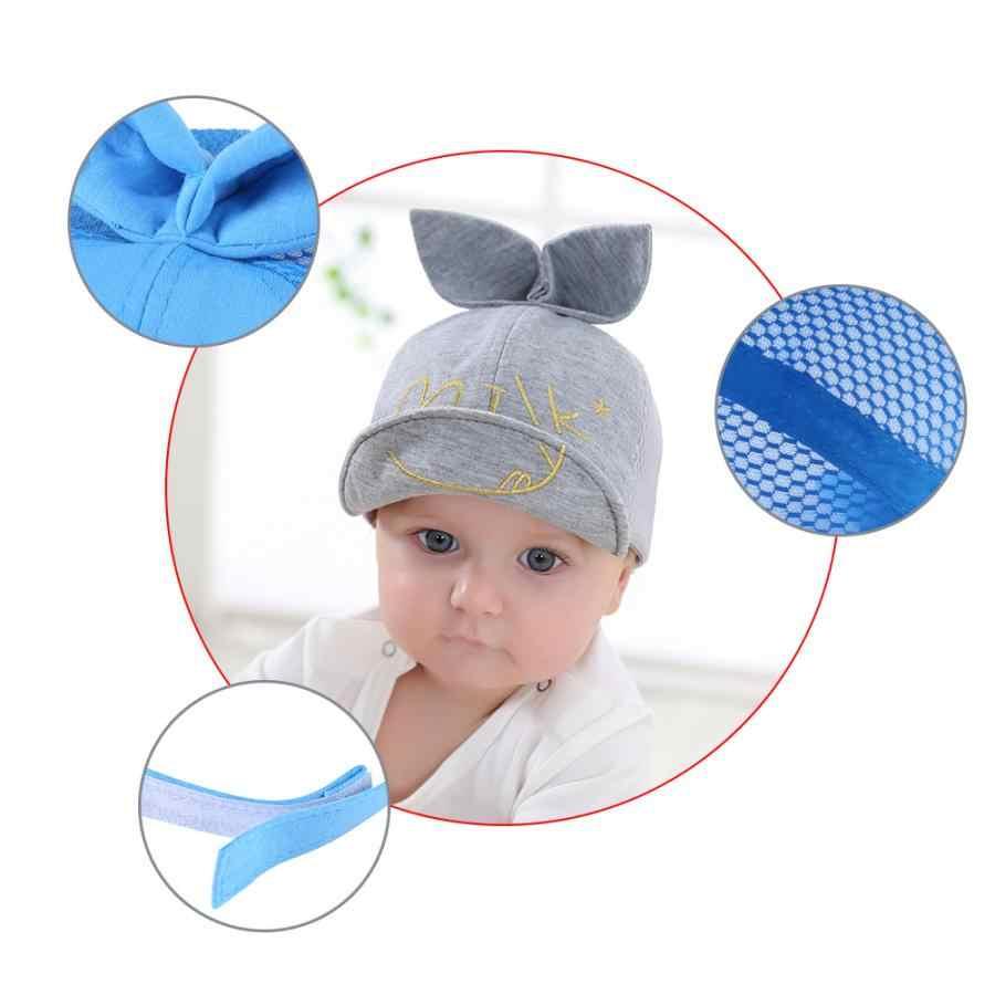 เด็กทารกเด็กชายหญิงทารกผ้าฝ้ายหมวกเบสบอลน่ารักกระต่ายหูเด็กวัยหัดเดินเด็กหมวกเด็กหมวกฤดูหนาว