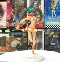 New Hatsune Miku Racing Miku Lovely Girl 22cm Vocaloid Virtual Idol Figure Figurine Toys