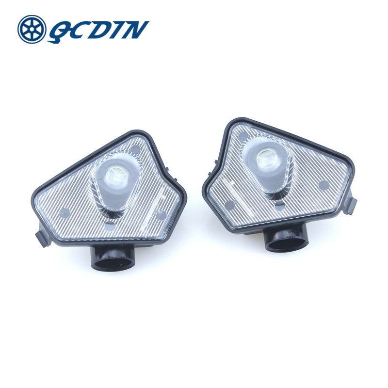 QCDIN For Mercedes Benz LED Car Side Tow Mirror Puddle Logo Light Rearview Mirror Projector Lamp