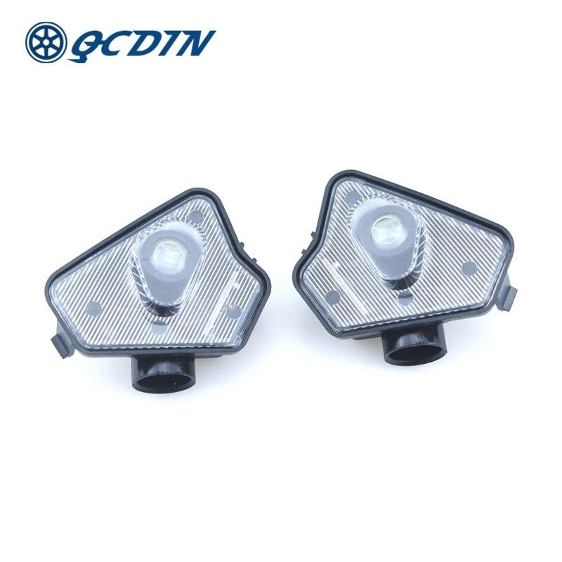 QCDIN Pour Mercedes Benz LED Side Car Remorquage Mirror Puddle Logo Lumière Rétroviseur Lampe De Projecteur pour Benz Multi- série Modèle