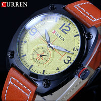 2016 CURREN Brand Business Man Quartz Watch Fashion Military Army Vogue Sport Casual Wristwatch Quality Relogio