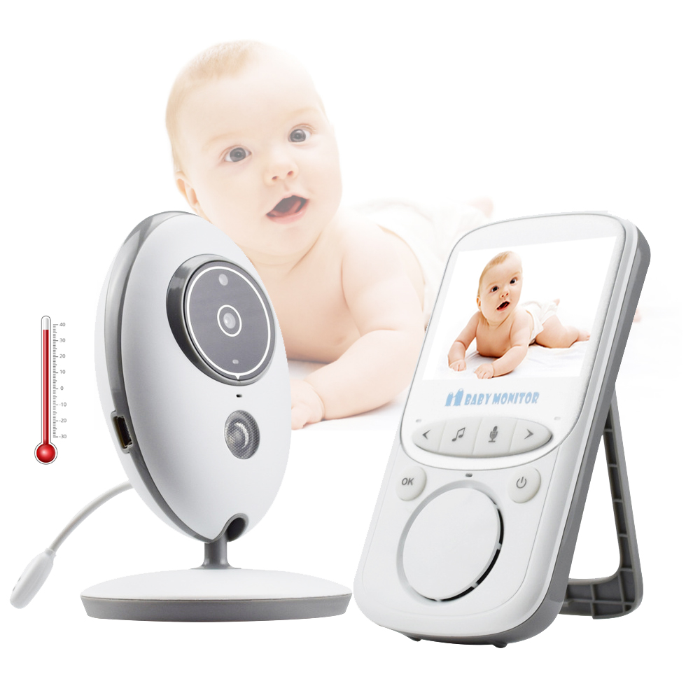 Baby Monitor VB605 Wireless 2.4 inch LCD Radio Nanny Music Intercom IR 24h Portable Baby Camera Baby Walkie Talkie Babysitter-in Baby Monitors from Security & Protection    1