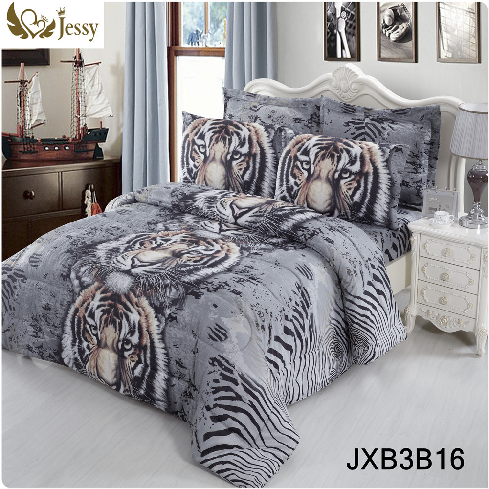 Cheap zebra print bedroom sets - Jessy Home 4pcs Bed Linens 3d Bedding Set Tiger Rose Plant Printed Bedding Animal Print Bedspread Bedclothes Duvet Cover Set In Bedding Sets From Home