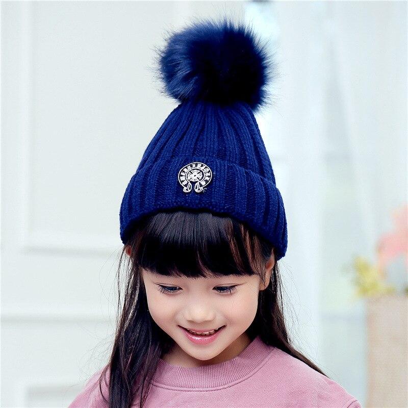 832cb8d4aea Winter Knit Pom Pom Hat Child