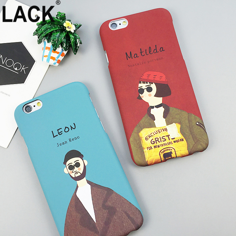 Leon and Mathilda The Professional Killer Case For iphone 6S 6 Plus 5 5S Cartoon Hard PC Cover Movie Pattern Phone Cases Fundas
